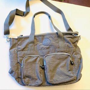 Kipling live lite army green tote bag, new